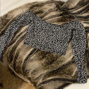 Off shoulder American apparel crop - Speckled!